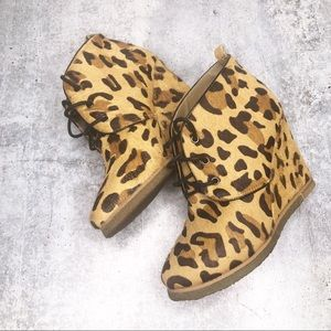 Shoemint Cheetah Wedges Size 6.5